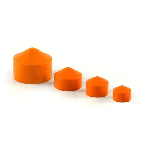 Orange Syringe Barrel Pistons