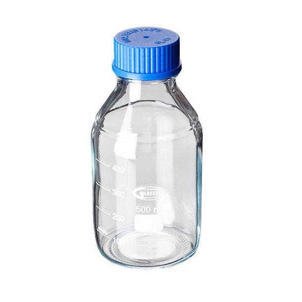 Glasflaske med skruelåg, Gennemsigtig